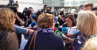 Declaraciones de las organizaciones participantes en la manifestación este martes en Valencia por la revelación de datos personales de la víctima de La Manada