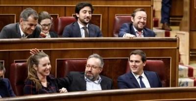 Albert Rivera y diputados de Ciudadanos. EUROPA PRESS