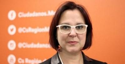 La candidata de Ciudadanos en la región de Murcia, Isabel Franco. Fuente: Cs