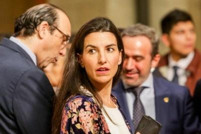25-01-2020- La portavoz del Grupo Vox en la Asamblea de Madrid, Rocío Monasterio, en un acto en Madrid. Ricardo Rubio / Europa Press