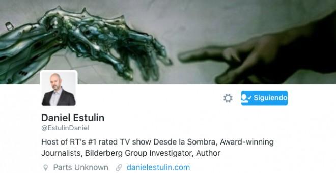 Perfil de la cuenta de Twitter de Daniel Estullin.