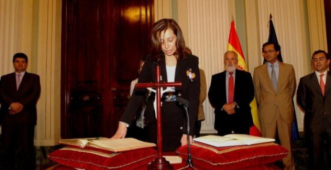La Directora General del Agua, Liana Sandra Ardiles López, en su toma de posesión del cargo.- MINISTERIO AGRICULTURA