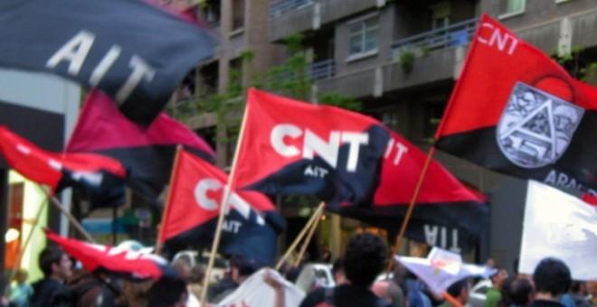 Una manifestación de la CNT en Zaragoza.- CNT