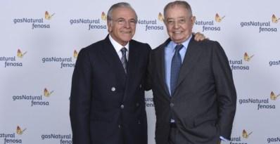 El nuevo presidente de Gas Natural Fenosa, Isidro Fainé, junto con su antecesor Salvador Gabarró. EFE/David Campos