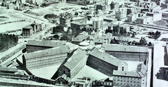 Cárcel Modelo y plaza de La Moncloa, vista desde el aire