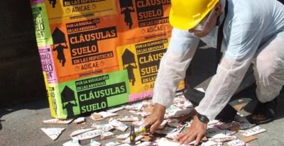 Manifestación contra las cláusulas suelo. EFE
