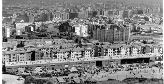 Panoràmica de l'Ateneu poc després de la seva recuperació. ATENEU 9 BARRIS