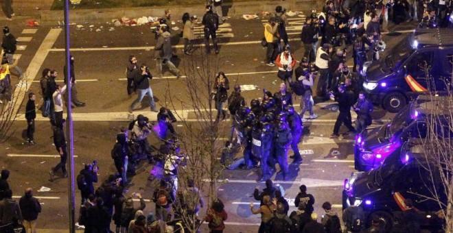Disturbios tras las Marchas de la Dignidad 2014.- EFE