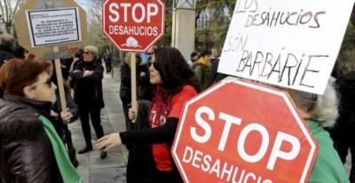 Imagen de una protesta contra los desahucios /EFE
