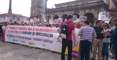 Manifestación de las víctimas del accidente de Alvia /EUROPA PRESS