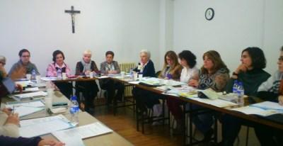 Reunión de la Asociación Católica Española de Servicios a la Juventud Femenina de Madrid.