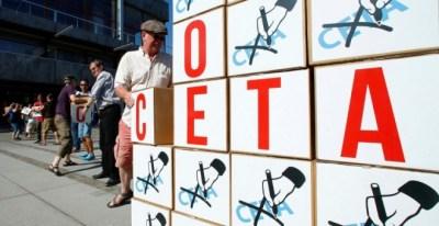 Manifestación contra el CETA en Alemania. REUTERS/Ralph Orlowski