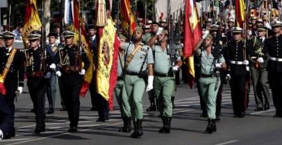Desfile del Día de la Fiesta Nacional de este 12 de octubre, presidido por los reyes, y al que ha asistido el Gobierno en pleno, y la mayoría de líderes políticos. EFE/Zipi