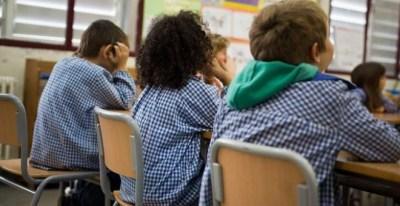 Un grupo de niños en la escuela.- EFE