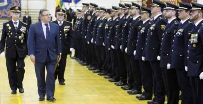 El ministro del Interior, Juan Ignacio Zoido, en un acto público con mandos policiales. -EFE