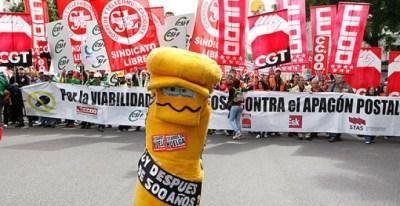 Los casi 60.000 trabajadores de Correos han perdido hasta un 14 por ciento de poder adquisitivo desde 2010