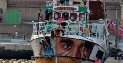 Imagen de un barco de la 'Flotilla de la libertad'. / TWITTER - @GazaFFlotilla