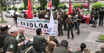 Los agentes convocaron un paro indefinido el pasado 1 de agosto en protesta por las condiciones en las que trabajan/ EUROPA PRESS