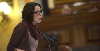 La diputada Eva García Sempere durante una intervención en el hemiciclo | EFE