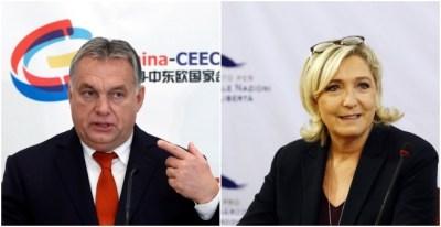 Orbán y Le Pen, en imágenes recientes. REUTERS