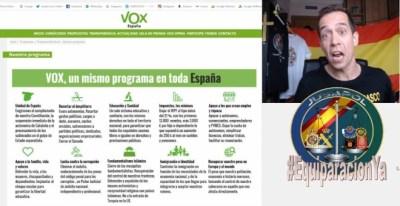 Jandro Lion en uno de sus montajes para hacer propaganda del programa de Vox en las redes sociales.