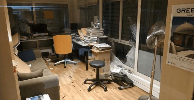 Vídeo | Ataque con bomba contra una televisión griega