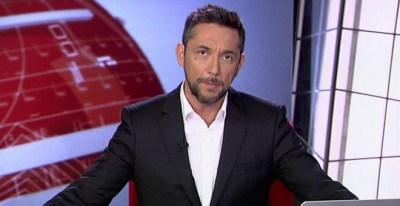 Javier Ruiz, presentador de la segunda edición de los informativos de Cuatro. MEDIASET