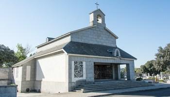 Capilla donde se encuentran los restos de Carmen Franco en el cementerio de Mingorrubio.- J. GÓMEZ
