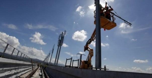 Vista general de los trabajos de construcción de la Línea 2 del Metro de la ciudad de Panamá (Panamá). EFE/Alejandro Bolívar
