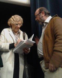 Manuela Carmena en la presentación del libro 'La matanza de Atocha'.