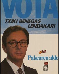 Cartel electoral de 'Txiqui' Benegas para las elecciones vascas.