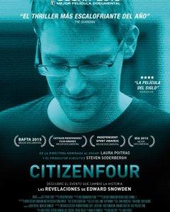 Cartel del largometraje 'Citizenfour', ganador del Oscar a la mejor película documental en 2015. / TV3