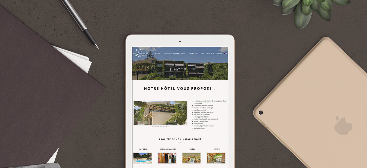 Conception site hotel responsive