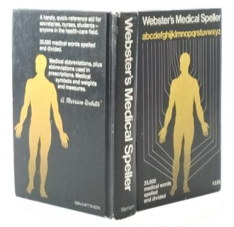 Webster's Medical Speller Secret Hollow Book Safe