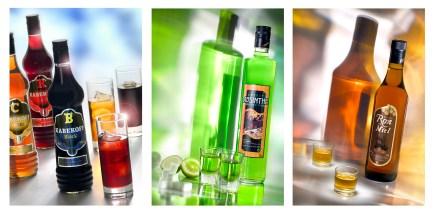 Absenta-RonMiel-Vodka