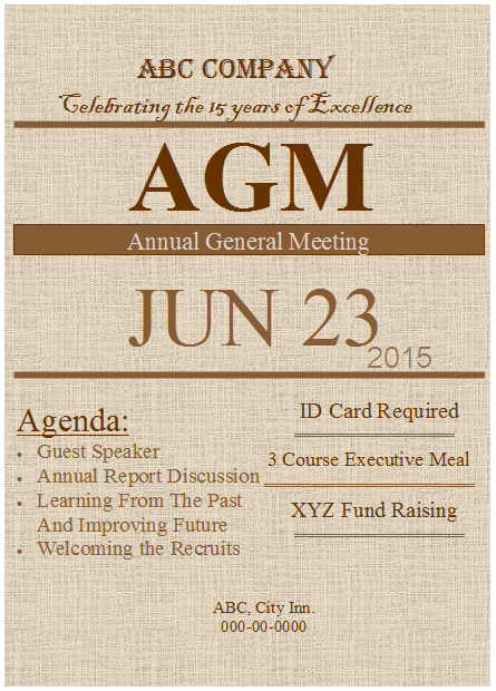 Agm flyer template publisher flyer templates below is the preview of the agm annual general meeting flyer template made in ms publisher altavistaventures Choice Image