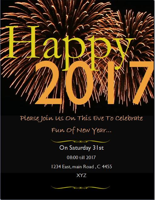 Happy 2017 Flyer Template