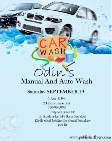 Free Printable Car Wash Posters