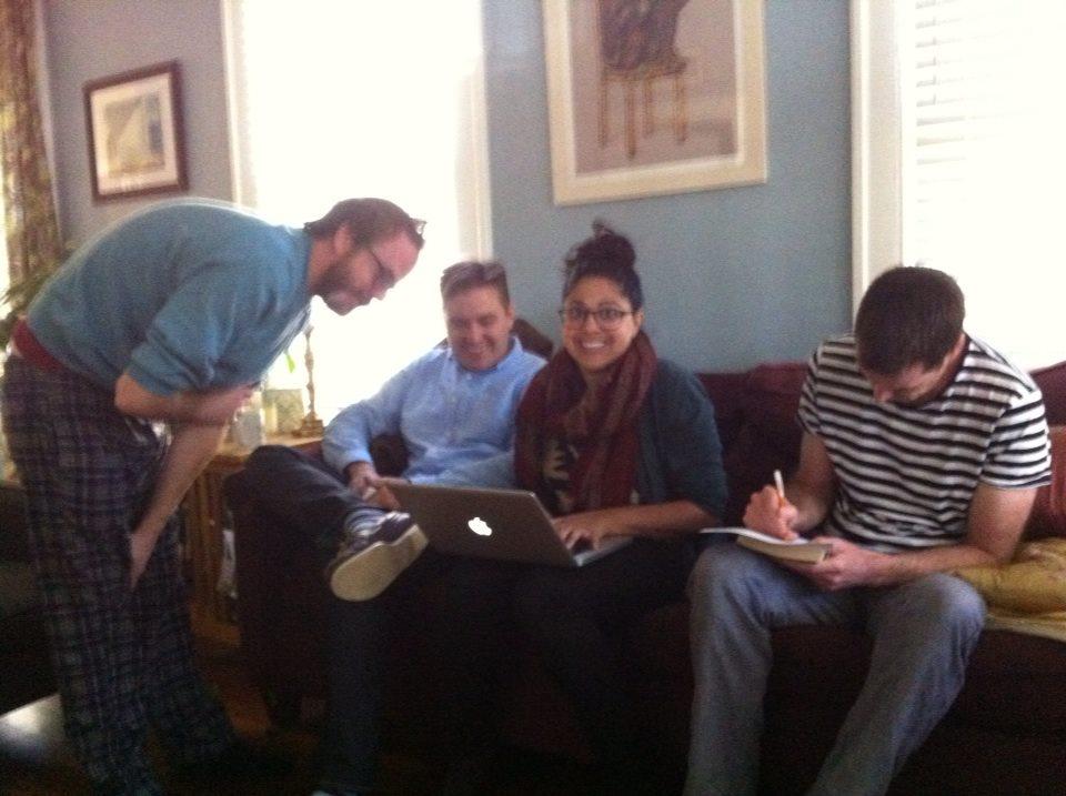 L-R: Adam Robinson, John Dermot Woods, Anjali Mullany, Edward Mullany