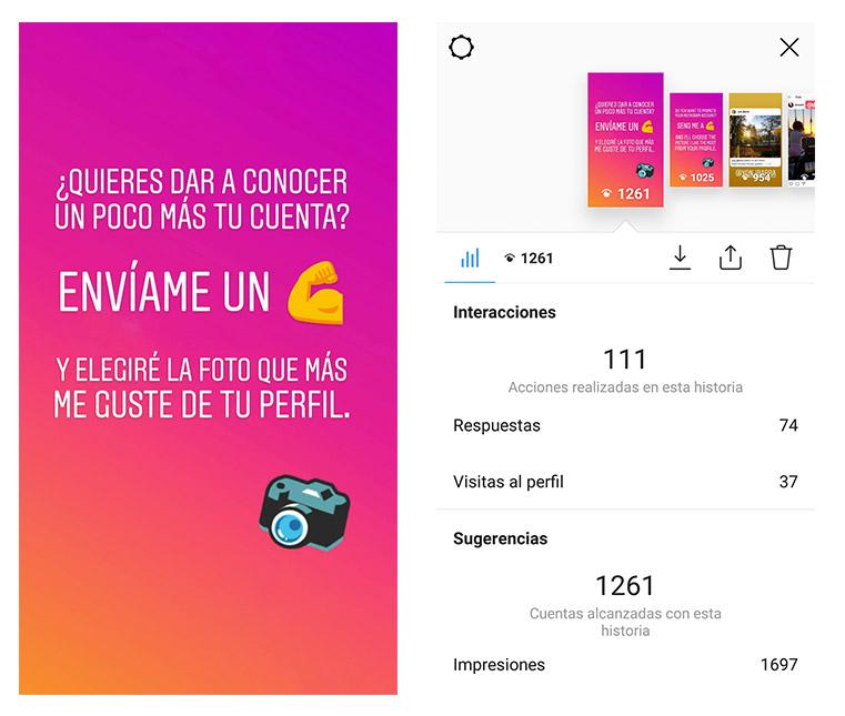 Promoción cuenta instagram
