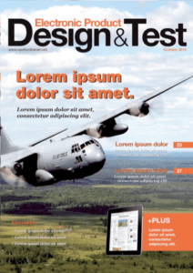 The new cover of Electronic Product Design & Test