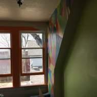 North wall upstairs.
