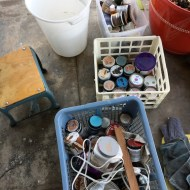 Paints to be sorted. We are well taken care of by SOCO Recycling & Services