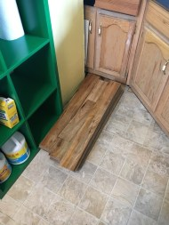 Laminate Floor donated by Johnny Salazar.