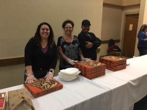 Everyone got pizza and these lovely ladies made sure of it!