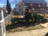 Randy Kurtz trenching to repair water lines