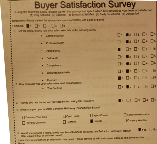 Buyer Satisfaction