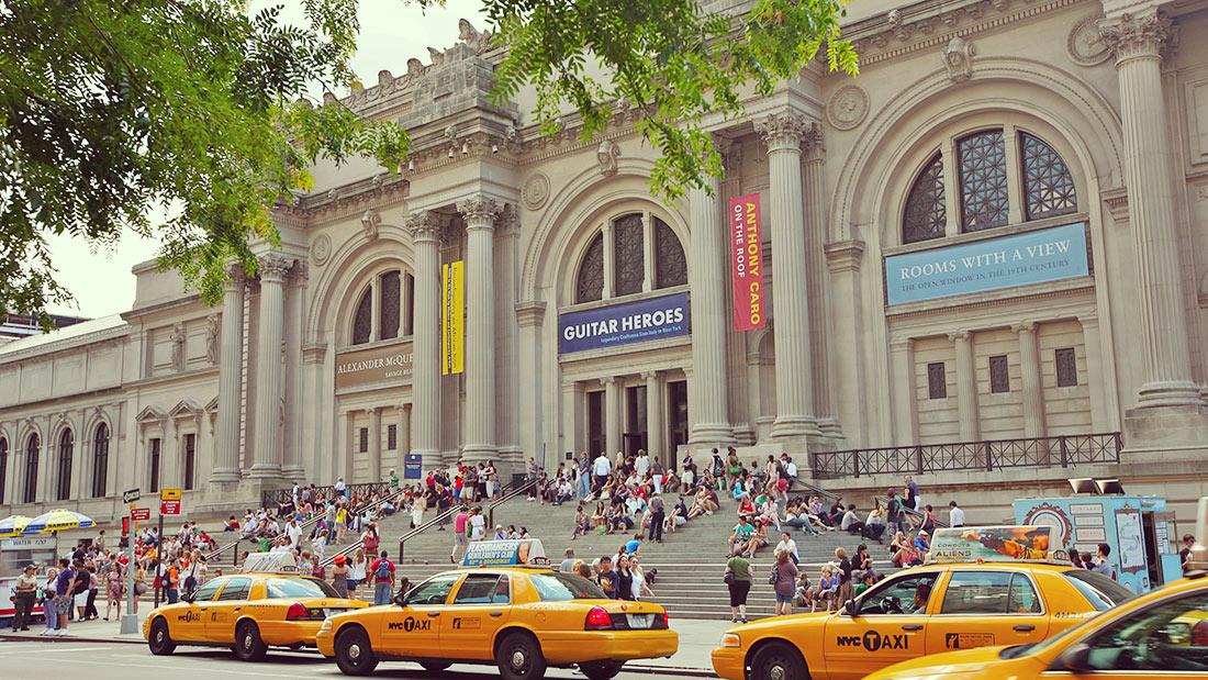 Vista de la entrada del Museo Metropolitano de Arte