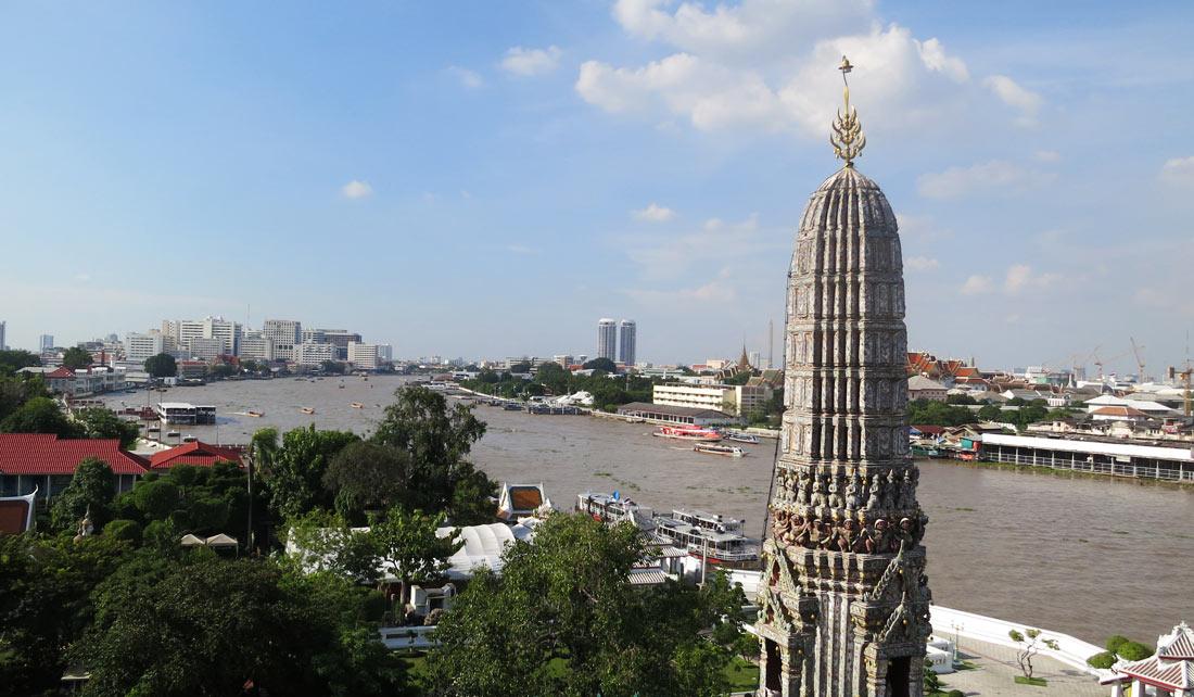 Vista panorámica desde Wat Arun