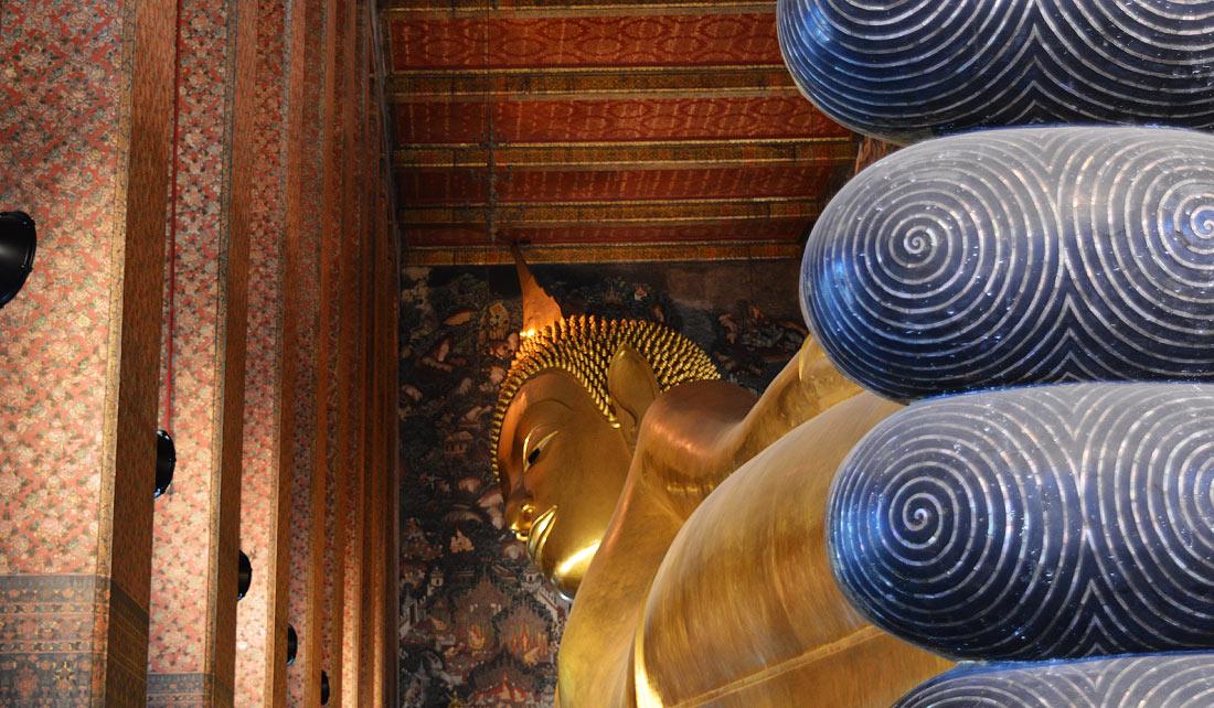 Wat Pho o el templo del Buda Reclinado,